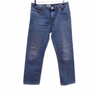 Acne Studio Blue Denim Boyfriend Jeans