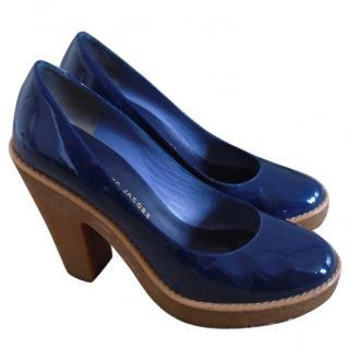 Marc by Marc Jacobs Blue Patent Shoes