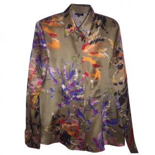 Escada Patterned Silk Shirt