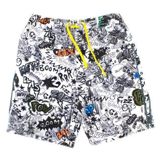 Stella McCartney Boys Blue and Graphic Print Shorts