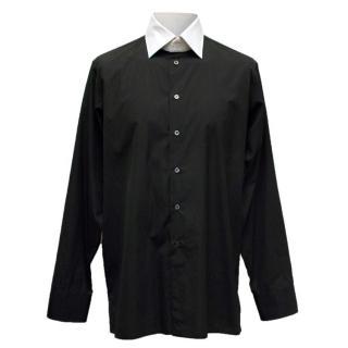 Richard James Black Shirt with White Collar