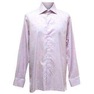 Richard James Men's Lilac Patterned Shirt