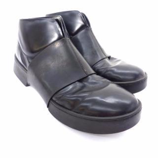Bikkembergs Men's Black Leather Ankle Boots