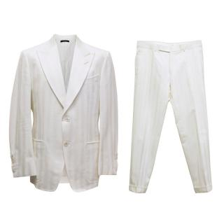 Tom Ford White Textured Suit