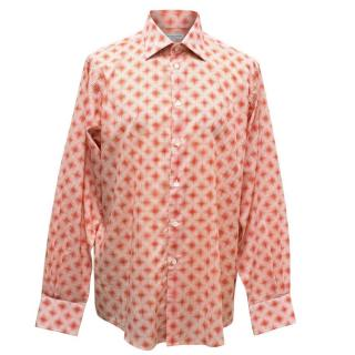 Richard James Men's Red and White Dotted Shirt