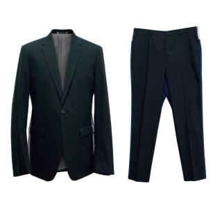 Jil Sander Navy, Blue, and Grey Color Block Two Piece Suit