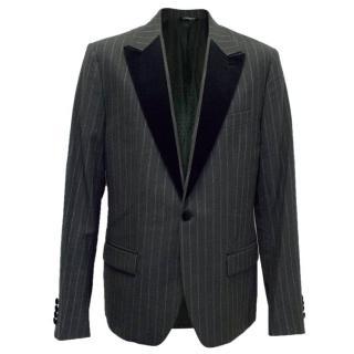 Dolce and Gabbana Black Striped Dinner Jacket
