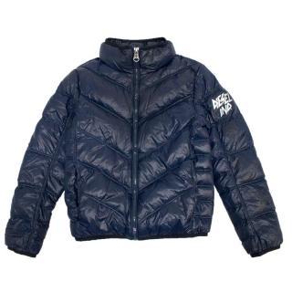 Diesel Boys Navy Down Feather Jacket