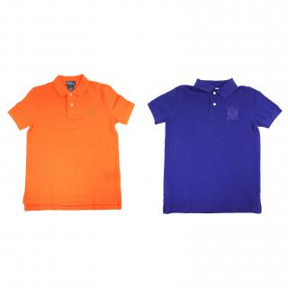 Hackett and Ralph Lauren Boys Blue and Orange Polo Shirts