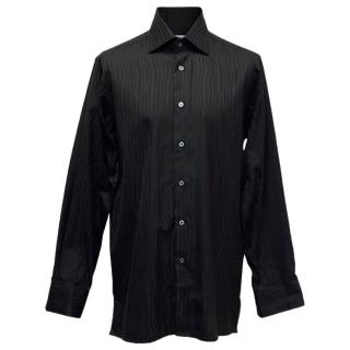 Richard James Men's Black Patterned Shirt