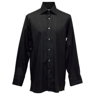 Richard James Men's Black Patterned Shirt