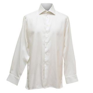 Richard James Mens White Cotton Shirt