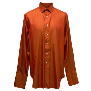 Richard James Men's Orange Shirt