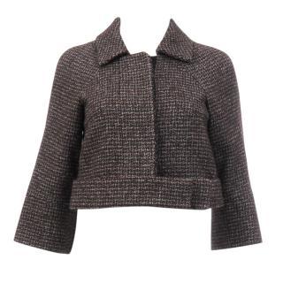 Chloe Wool-Blend Tailored Cropped Jacket
