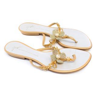 Guiseppe Zanotti Embellished Thong Sandals