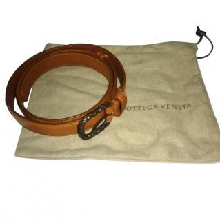Bottega Veneta Ladies Tan Leather Belt