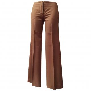 Chloe Camel Wool Trousers