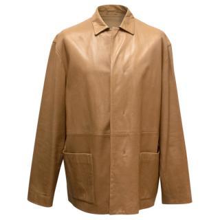 Jil Sander Brown Leather Jacket