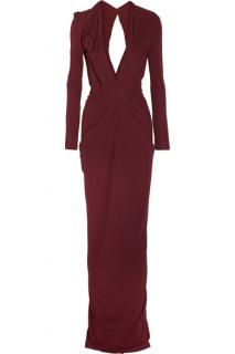 Roland Mouret Compeyson Draped Jersey-Crepe Gown