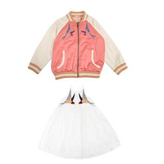 Stella McCartney Kids Applique Dress and Bomber Jacket