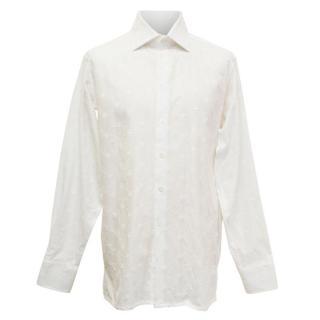 Richard James Men's White Embroidered Shirt