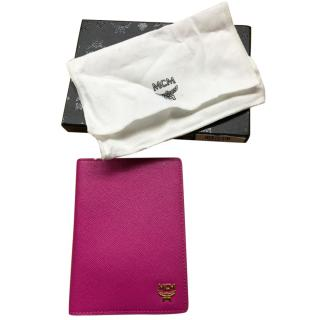 MCM Pink passport holder