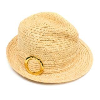 Heidi Klein Straw Fedora Hat