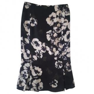 Ungaro flower silk skirt