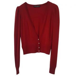 Dolce & Gabbana Red Short Caridgan