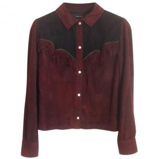 Isabel Marant burgundy suede shirt