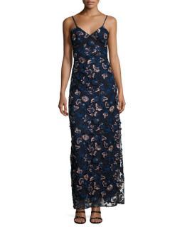 SELF PORTRAIT Eva floral slip dress