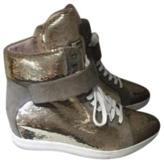 Miu Miu Metallic Trainers