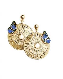 Versace Aztec Coin Earrings