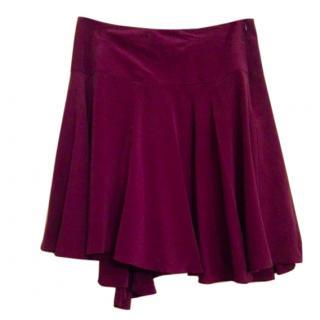 See By Chloe Purple Silk skirt