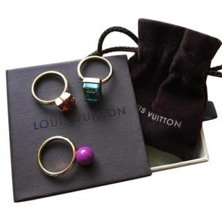 Louis Vuitton bijoux fantaisie rings