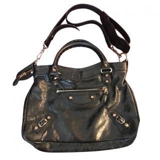Balenciaga Rose gold black town bag