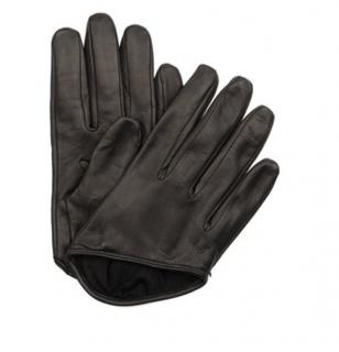 McQ Alexander McQueen Black Leather Cropped Gloves