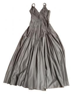 Carlos Miele long black silk dress