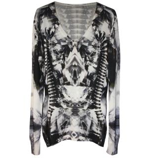Alexander McQueen Extremely Rare and Iconic Crystal Skeleton Jumper S