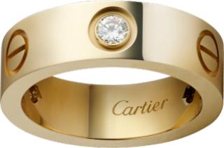 Cartier Love Ring Yellow Gold & Diamonds