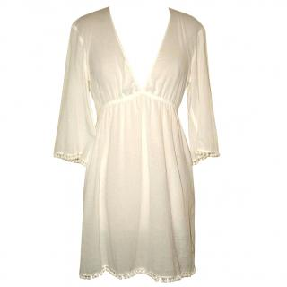 HEIDI KLEIN white tunic top, size 2