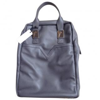Versace grey leather tote
