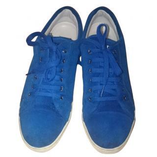 Dolce&Gabbana Men's Blue Suede Trainers