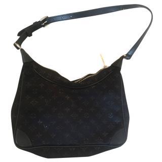 Louis VUitton black satin Mini monogram bag