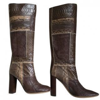 Chloe snakeskin boots