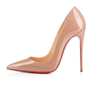 Christian Louboutin Nude Patent So Kate Pumps