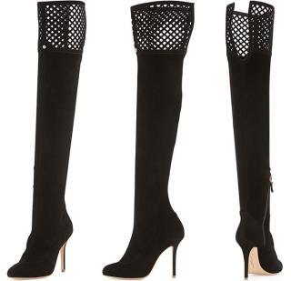 Sophia Webster Adrianna  over knee suede mesh boots