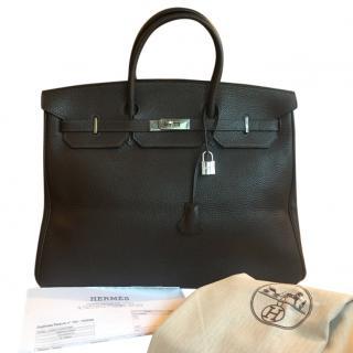 Hermes Birkin 40cms Chocolate Togo Crispe leather