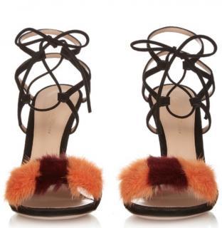 Gianvito Rossi zelda mink shoes