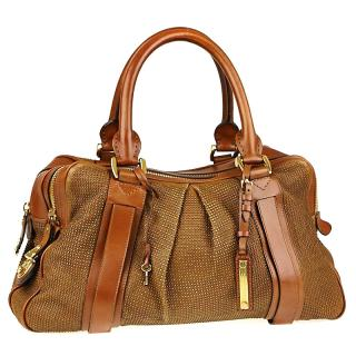 Burberry Prorsum brown leather Knight bag